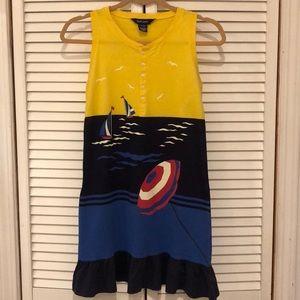 Ralph Lauren sailboat umbrella ruffle hem dress